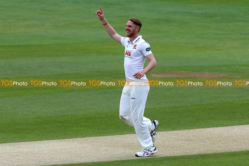 Jamie Porter of Essex celebrates taking the wicket of Liam Dawson during Essex CCC vs Hampshire CCC, Specsavers County Championship Division 1 Cricket at The Cloudfm County Ground on 21st May 2017