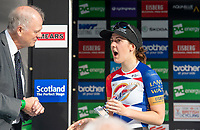 Picture by Allan McKenzie/SWpix.com - 15/05/2018 - Cycling - OVO Energy Tour Series Womens Race - Round 2:Motherwell - Beth Crumpton wins the Brother Fastest Lap award.