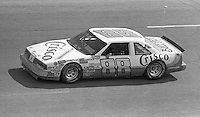 Buddy Baker (88) Oldsmobile 15th place finish Motorcraft 500 at Atlanta International Raceway in Hampton, GA on March 16, 1986.   (Photo by Brian Cleary/www.bcpix.com)