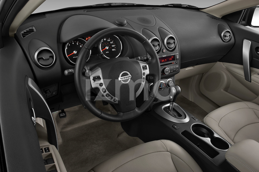 High angle dashboard view of a 2009 Nissan Rogue SL