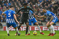 Michy Batshuayi of Chelsea (23) Dribbles with the ball  during the Premier League match between Brighton and Hove Albion and Chelsea at the American Express Community Stadium, Brighton and Hove, England on 20 January 2018. Photo by Edward Thomas / PRiME Media Images.