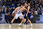 Turkish Airlines Euroleague 2017/2018.<br /> Regular Season - Round 8.<br /> FC Barcelona Lassa vs Valencia Basket: 89-71.<br /> Petteri Koponen vs Guillem Vives.