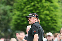 Miguel Angel Jimenez prepares to tee off on the 1st hole during the final round of the 2008 BMW PGA Championship at Wentworth Club, Surrey, England 25th May 2008 (Photo by Eoin Clarke/GOLFFILE)