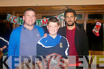 Kerry Football Stars Paul Galvin and Dara O'Cínnede who presented medals to the Annascaul/Lispole under 11 to 15 teams .who won both County and West Kerry honours this season at an awards night in Sammys Restaurant, Inch on Friday night.