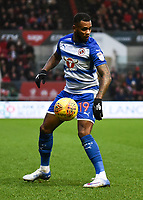 Leandro Bacuna of Reading during the Sky Bet Championship match between Bristol City and Reading at Ashton Gate, Bristol, England on 26 December 2017. Photo by Paul Paxford.