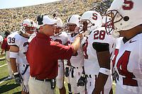 2 September 2006: Nick Frank (39), Jeff Hammerschmidt, Erik Lorig, Landon Johnson, Peter Griffin (28), Trevor Hooper (24) during Stanford's 48-10 loss to the Oregon Ducks at Autzen Stadium in Eugene, OR.