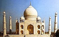 World Civilization:  Islamic Architecture--the Taj Mahal, Agra, India, 1632-1648. Built for Mumtaz Mahal, the favorite wife of Shah Jahan.  Considered the masterpiece of Indo-Islamic Architecture.