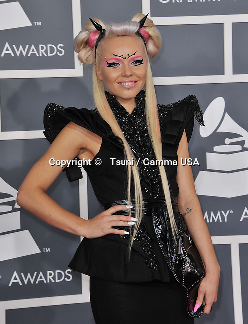 kerli _614 at  the 55th Ann. Grammy Awards 2013 at the Staples Center in Los Angeles.