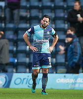Sam Wood of Wycombe Wanderers after his teams loss during the Sky Bet League 2 match between Wycombe Wanderers and Crawley Town at Adams Park, High Wycombe, England on 25 February 2017. Photo by Andy Rowland / PRiME Media Images.