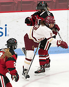 Kenzie Kent (BC - 12), Heather Mottau (NU - 26) -  The Boston College Eagles defeated the Northeastern University Huskies 2-1 in overtime to win the 2017 Hockey East championship on Sunday, March 5, 2017, at Walter Brown Arena in Boston, Massachusetts.