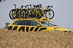 The race arrives in Titz during Stage 2 of the 104th edition of the Tour de France 2017, running 203.5km from Dusseldorf, Germany to Liege, Belgium. 2nd July 2017.<br /> Picture: Eoin Clarke | Cyclefile<br /> <br /> <br /> All photos usage must carry mandatory copyright credit (&copy; Cyclefile | Eoin Clarke)