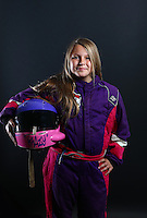Mar. 23, 2014; Chandler, AZ, USA; LOORRS junior 1 driver Kaci Kingman poses for a portrait prior to round one at Wild Horse Motorsports Park. Mandatory Credit: Mark J. Rebilas-USA TODAY Sports