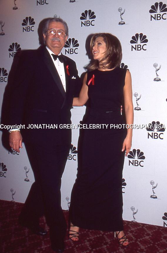 Jennifer Aniston &amp; Father John Aniston <br /> 1995 by Jonathan Green
