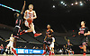 Robert Connors #15 of Chaminade soars through the air during a non-league varsity boys basketball game against Half Hollow Hills East at Nassau Coliseum in Uniondale on Sunday, Jan. 21, 2018. Hills East won by a score of 90-68.