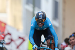 Alejandro Valverde (ESP) Movistar Team on the 17% climb during Stage 13 of the 2019 Tour de France an individual time trial running 27.2km from Pau to Pau, France. 19th July 2019.<br /> Picture: Colin Flockton | Cyclefile<br /> All photos usage must carry mandatory copyright credit (© Cyclefile | Colin Flockton)