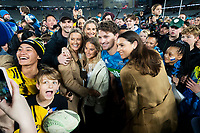 14th June 2020, Aukland, New Zealand;  Blues Beauden Barrett with his wife Hannah Laity and friends after the Investec Super Rugby Aotearoa match, between the Blues and Hurricanes held at Eden Park, Auckland, New Zealand.