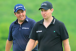 Shane Lowry and Stephen Gallacher walk down the 16th hole during the 3rd Day of The Celtic Manor Wales Open, 5th June 2010 (Photo by Eoin Clarke/GOLFFILE).