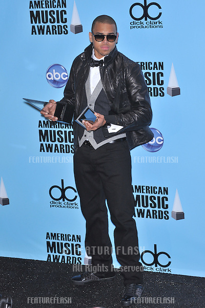 Chris Brown at the 2008 American Music Awards at the Nokia Live! Theatre, Los Angeles..November 23, 2008 Los Angeles, CA.Picture: Paul Smith / Featureflash