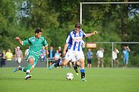 VOETBAL: DE KNIPE: 16-07-2013, Oefenwedstrijd SC Heerenveen - Leuven, Einduitslag 2-1, Chris Kum, ©foto Martin de Jong