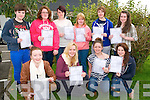 Presentation Convent Secondary Inter Cert : Students from Presentation Secondary Convent  who received the inter cert results on Wednesday. Front: Tat Lyons, Olivia Scanlon, Rachael McKenna & Elissa Quin. Back : Meghann Kissane, Michelle Collins, Shauna O'Connor, Kerry McKenna & Noreen Quilter.