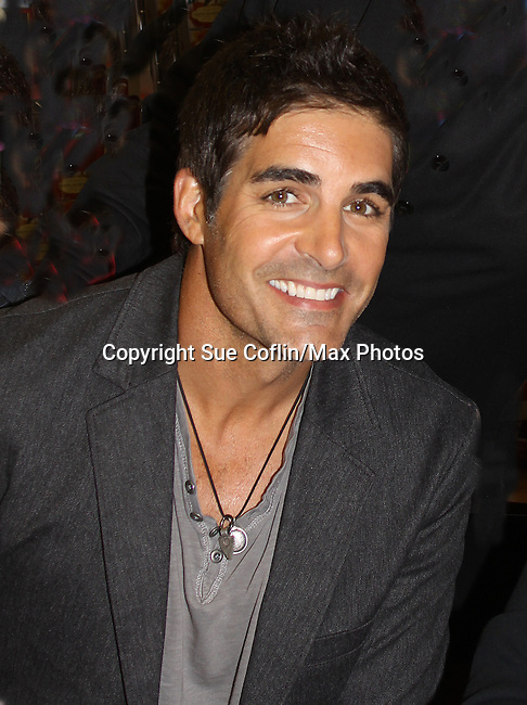 "Days of our Lives Galen Gering at the Days of our Lives ""Better Living"" book signing as fans got to meet the cast on Septermber 23, 2013 at Books & Greetings, Northvale, New Jersey.  (Photo by Sue Coflin/Max Photos)"