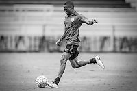 Miami, FL. - May 19, 2016: The USMNT train in black & white feature in preparation for the 2016 Copa America Centenary at Barry University.