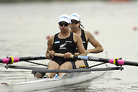 Poznan, POLAND.  2006, FISA, Rowing, World Cup, NZL W2-,  bow Nicky COLES and  Juliette HAIGH, moves  away from  the  start, on the Malta  Lake. Regatta Course, Poznan, Thurs. 15.05.2006. © Peter Spurrier   .[Mandatory Credit Peter Spurrier/ Intersport Images] Rowing Course:Malta Rowing Course, Poznan, POLAND
