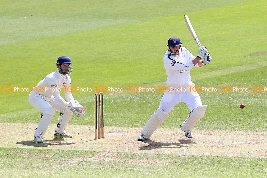 James Vince hits out for Hampshire as James Foster looks on - Hampshire CCC vs Essex CCC - LV County Championship Division Two Cricket at the Ageas Bowl, West End, Southampton - 17/06/14 - MANDATORY CREDIT: Gavin Ellis/TGSPHOTO - Self billing applies where appropriate - 0845 094 6026 - contact@tgsphoto.co.uk - NO UNPAID USE