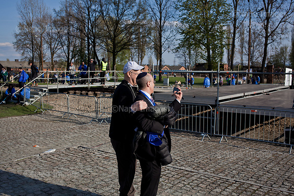 OSWIECIM, POLAND, APRIL 24, 2017:<br /> Elisha Wiesel during the &quot;March of The Living&quot; an annual march between two camps of the Auschwitz concentration camp.  Elisha Wiesel is a chief technology officer at Goldman Sachs in New York and the only son of Holocaust memoirist Eli Wiesel. After death of his father he has decided to step forward and take a more public role, carrying on his father's work.<br /> (Photo by Piotr Malecki / Napo Images)<br /> ###<br /> OSWIECIM, 24/04/2017:<br /> Elisha Wiesel, syn slawnego Eli Wiesela, bierze udzial w Marszu Zywych w Oswiecimiu. Po smierci ojca Elisha postanowil kontynuoawc jego dzielo.<br /> Fot: Piotr Malecki / Napo Images<br /> <br /> ###ZDJECIE MOZE BYC UZYTE W KONTEKSCIE NIEOBRAZAJACYM OSOB PRZEDSTAWIONYCH NA FOTOGRAFII###