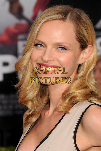 "RACHEL ROBERTS.""Prince Of Persia: The Sands Of Time"" Los Angeles Premiere held at Grauman's Chinese Theatre, Hollywood, California, USA..May 17th, 2010.headshot portrait black trim beige smiling.CAP/ADM/BP.©Byron Purvis/AdMedia/Capital Pictures."