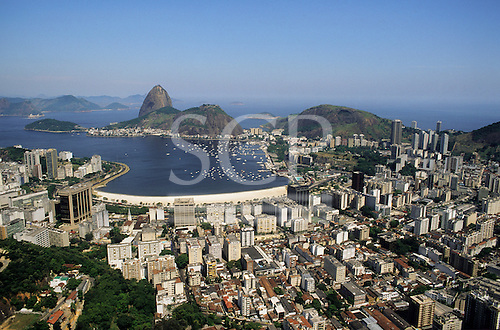 Rio de Janeiro, Brazil. View of the Sugarloaf across Botafogo bay.