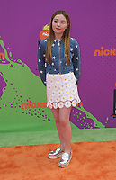 LOS ANGELES, CA July 13- Ella Anderson, At Nickelodeon Kids' Choice Sports Awards 2017 at The Pauley Pavilion, California on July 13, 2017. Credit: Faye Sadou/MediaPunch