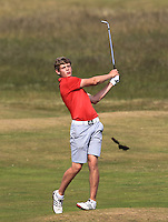 Cathal Nolan (Galway) on the 14th during Round 4 of the East of Ireland Amateur Open Championship sponsored by City North Hotel at Co. Louth Golf club in Baltray on Monday 6th June 2016.<br /> Photo by: Golffile   Thos Caffrey