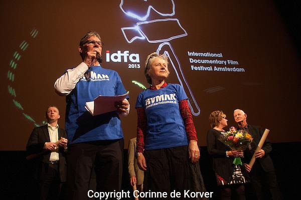 Amsterdam, 24 november 2013 International Documentary Filmfestival Amsterdam. Premiere Awake in a Bad Dream by Peter and Petra-Lataster Czisch in Tuschinski 1. Photo by Corinne de Korver