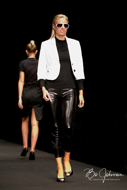 Model Lisa Jonholt on the catwalk during WHERE2GO's, the fashion magazine IN's and Magasin's &quot;CFW AW08 Trendshow - About Fashion and Personal Style&quot;. Copenhagen Fashion Week. Radhushallen, Copenhagen, Denmark.<br /> August 2008.<br /> Only for editorial use.