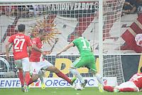 Ivica Olic (VfL) gegen Nicolce Noveski (Mainz) - 1. FSV Mainz 05 vs. VfL Wolfsburg, Coface Arena, 3. Spieltag