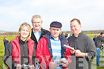 FORM: Looking over the form of the horses at the North Kerry Harriers Point to Point Races in Ballybunion on Saturday. L-r: Kay Neville (Askeating), Tim Murphy (Glin), Mike Brosnan (Moyvane) and Paddy Neville (Askeating)................................................................. ........