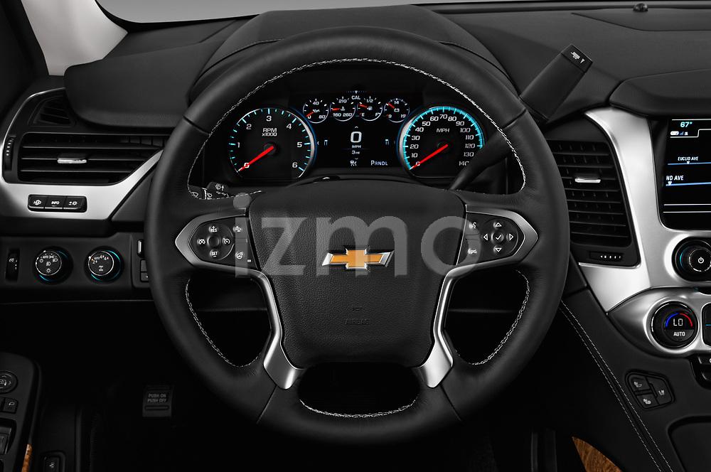 Car pictures of steering wheel view of a 2018 Chevrolet Tahoe Premier 2WD 5 Door SUV