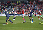 08/05/2016 Sky Bet League 1 Fleetwood Town v <br /> Crewe Alexandra<br /> Devante Cole celebrates after scoring Fleetwood's second