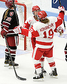 Marie-Philip Poulin (BU - 29), Jenelle Kohanchuk (BU - 19) - The Boston University Terriers defeated the visiting Harvard University Crimson 2-1 on Sunday, November 18, 2012, at Walter Brown Arena in Boston, Massachusetts.