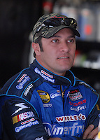 Apr 27, 2007; Talladega, AL, USA; Nascar Nextel Cup Series driver David Stremme (40) during practice for the Aarons 499 at Talladega Superspeedway. Mandatory Credit: Mark J. Rebilas
