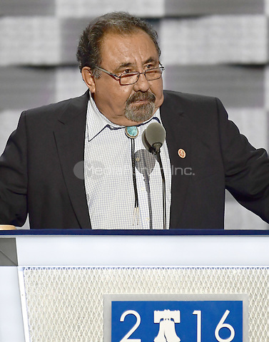 United States Representative Raul Grijalva (Democrat of Arizona) makes remarks at the 2016 Democratic National Convention at the Wells Fargo Center in Philadelphia, Pennsylvania on Monday, July 25, 2016.<br /> Credit: Ron Sachs / CNP/MediaPunch<br /> (RESTRICTION: NO New York or New Jersey Newspapers or newspapers within a 75 mile radius of New York City)