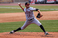 Quad Cities River Bandits pitcher Tyler Britton (2) delivers a pitch during a Midwest League game against the Wisconsin Timber Rattlers on April 9, 2017 at Fox Cities Stadium in Appleton, Wisconsin.  Quad Cities defeated Wisconsin 17-11. (Brad Krause/Four Seam Images)