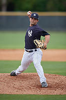 New York Yankees Anderson Munoz (48) during a Minor League Spring Training game against the Atlanta Braves on March 12, 2019 at New York Yankees Minor League Complex in Tampa, Florida.  (Mike Janes/Four Seam Images)
