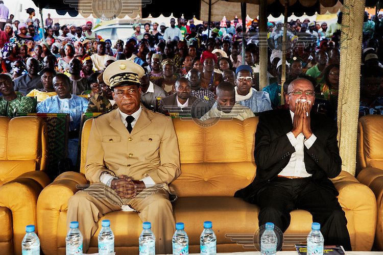 The Governor of Segou Province in the VIP seats at the Festival sur le Niger.