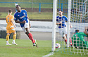 JOSEPH MBU CELEBRATES AFTER HE SCORES COWDENBEATH'S THIRD
