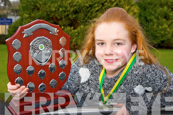 Shauna O'Leary Inch Kilcummin who won the Coel an Gheimhridh u12 Munster Championships for singing in Limerick last month and has qualified for the All Ireland final