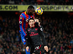Crystal Palace's Christian Benteke tussles with Arsenal's Hector Bellerin during the premier league match at Selhurst Park Stadium, London. Picture date 28th December 2017. Picture credit should read: David Klein/Sportimage