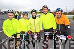 Pictured at the Fenit Coastal Cycle on Saturday were l-r: Eamon O'Connor, (Killorglin), Eileen O'Connor (Milltown), Mairead Bermingham (Killorglin), Sean O'Loughlin (Ardfert) and David O'Connor (Milltown)