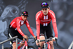 Tom Dumoulin (NED) Team Sunweb on stage at the team presentation before Stage 1 of the Criterium du Dauphine 2019, running 142km from Aurillac to Jussac, France. 9th June 2019<br /> Picture: ASO/Alex Broadway | Cyclefile<br /> All photos usage must carry mandatory copyright credit (© Cyclefile | ASO/Alex Broadway)